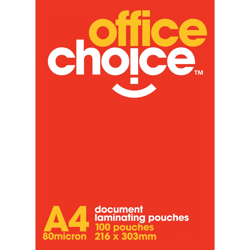 POUCH LAMINATING A4 OFFICE CHOICE