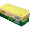 POST-IT 654R-24CP-CY NOTES Cab Pack 100%Rcyc 76x76 Yellow