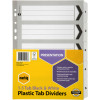 MARBIG BLACK & WHITE DIVIDERS A4 1-5 Reinf Tab Board