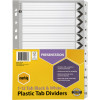 MARBIG BLACK & WHITE DIVIDERS A4 1-12 Reinf Tab Board