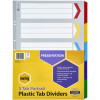 MARBIG COLOURED DIVIDERS A3 1-5Tab Board Portrait Asst