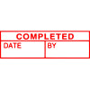 X STAMPER COMPLETED/DATE/BY RED INK 1542