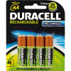 DURACELL RECHARGEABLE BATTERY AA Pack 4 Precharged