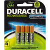 DURACELL RECHARGEABLE BATTERY AAA Pack 4 Precharged