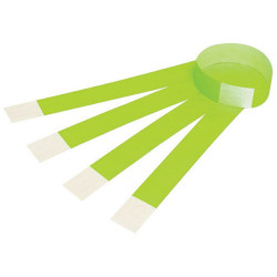 WRIST BANDS PK10 W/Serial Number Fluoro Green