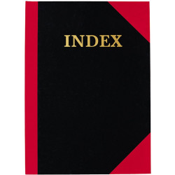 RED & BLACK HARD CASE NOTE BOOK A5 INDEXED 100 PAGE