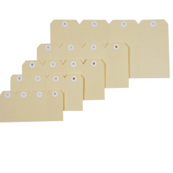 SHIPPING TAGS MANILLA BOX 1000 NO2 40X82MM REINFORCED HOLES