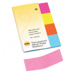 PG MARKER NOTES NEON CLEAR 20x50