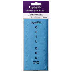 TWINLOCK CRYSTAL FILE INSERTS A-Z AND BLANK BLUE PACKET 50