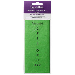 TWINLOCK CRYSTAL FILE INSERTS A-Z AND BLANK GREEN PACKET 50