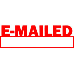 X STAMPER EMAILED/DATE RED INK 1650