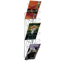 BROCHURE STAND WIRE WALL MOUNTED 7 TIER