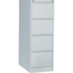 GO 4 DRAWER FILING CABINET H1321xw460xd620mm Silver Grey