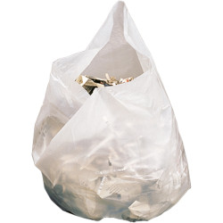 GARBAGE BAGS LARGE WHITE 28 LITRE ROLL 650x510MM