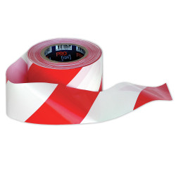 BARRICADE SAFETY TAPE 100m x 75mm Red/White